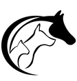 Cat horse and dog vector image