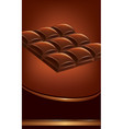 background of dark chocolate tables vector image
