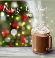 background with christmas hot chocolate vector image