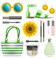 fashion accessories set 8 vector image