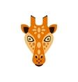 Giraffe African Animals Stylized Geometric Head vector image