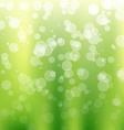 Green Bokeh Background vector image