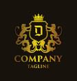 luxury letter d logo vector image