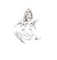 pumpkin costume vector image