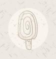 vanilla dessert in hand-drawn style vector image