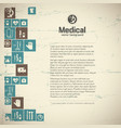 healthcare background vector image