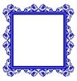 Blue frame vector image vector image