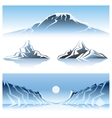 Winter Mountains Graphic Design vector image vector image