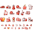 female site and forum icons set vector image vector image