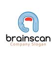 Brain Scan Design vector image