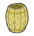 comic cartoon wooden barrel vector image