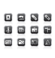 simple travel and trip icons vector image