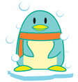 Frozen Penguin vector image