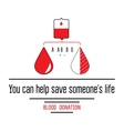Blood donation icons vector image
