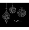 christmas balls made of floral vector image vector image