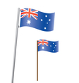 australia flag3 vector image vector image