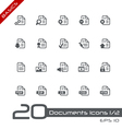 Documents Icons Basics vector image