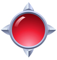 Ruby button vector image vector image