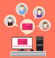 business people corporate communication email vector image