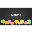debate graphic vector image