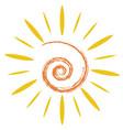 doodle sun symbol vector image