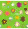 Flora Flower Seamless Pattern Design vector image
