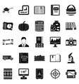 Skills icons set simple style vector image