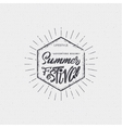 Summer festival - poster stamp badge insignia vector image