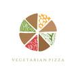 vegetarian pizza design template vector image