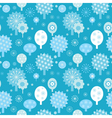 winter forest seamless texture with decorative tre vector image