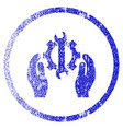 repair service grunge textured icon vector image