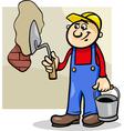 worker with trowel cartoon vector image vector image