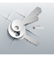 3d paper keys modern design vector image