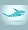 blue shark vector image