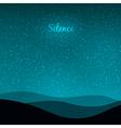 Good night design vector image vector image