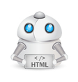 Robot with HTML sign Technology concept vector image