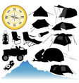 camping equipment vector image vector image