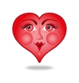 Heart with a face vector image