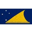 Tokelau paper flag vector image