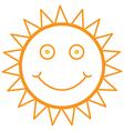smiley sun vector image vector image