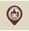 hot deals design vector image