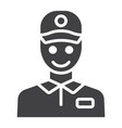 delivery man glyph icon logistic and delivery vector image