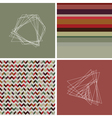 geometric colored hipster striped pattern vector image