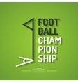 Poster for the football championship vector image