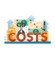Reduce Costs - flat design website banner vector image