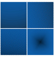 set of blue retro style pop art vector image