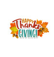 thanksgiving day greeting banner vector image