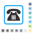 tone phone framed icon vector image
