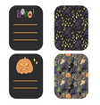 Happy Halloween greetings and invitation cards vector image