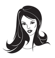 Modern girl with a new hairstyle vector image vector image